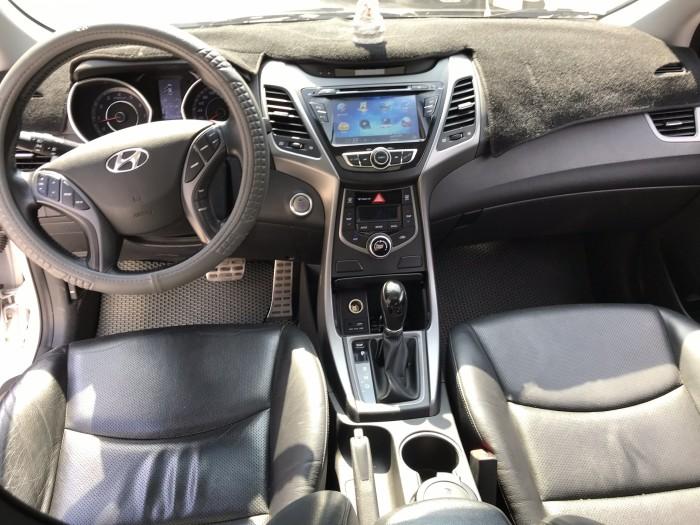 Bán Hyundai Elantra GLS 1.8AT màu trắng số tự động nhập Hàn Quốc 2014 biển tỉnh mẫu mới