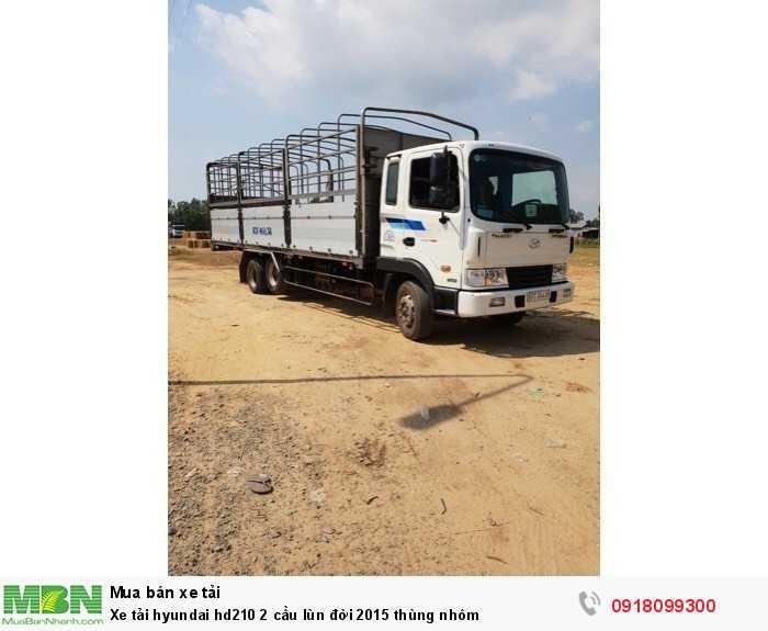 Xe tải Hyundai hd210 2 cầu lùn đời 2015 thùng nhôm 0