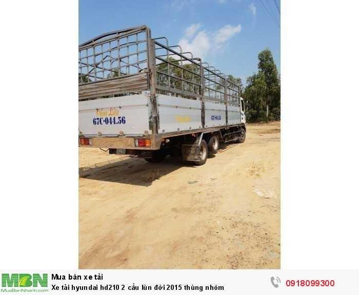 Xe tải Hyundai hd210 2 cầu lùn đời 2015 thùng nhôm 3