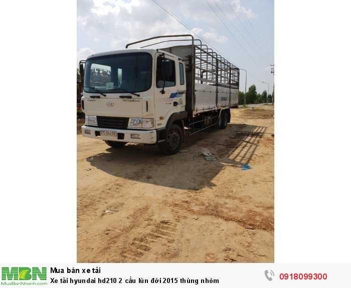Xe tải Hyundai hd210 2 cầu lùn đời 2015 thùng nhôm
