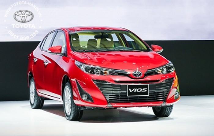 Bán Toyota Vios 1.5G màu đỏ, xe giao ngay, giá Tốt nhất Miền Bắc, Hỗ trợ trả góp 80% 0