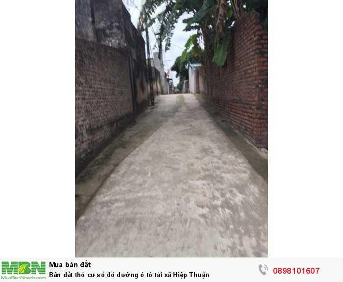 Bán đất thổ cư sổ đỏ đường ô tô tải xã Hiệp Thuận