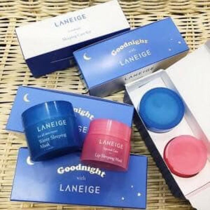 Bộ Mặt Nạ Ngủ Laneige Goodnight Sleeping Care Kit - Seoul Shop Mỹ phẩm Hàn Quốc xách tay chính hãng
