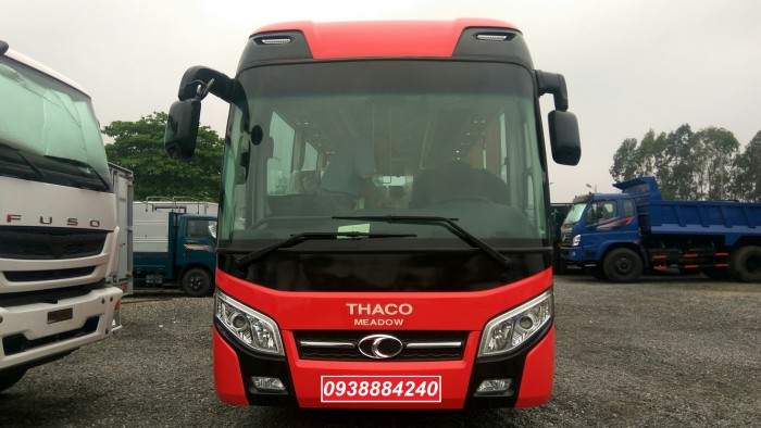 Khuyến mãi trước bạ xe khách Thaco Meadow TB85S 29 / 34 chỗ bầu hơi - Vay 80% Long An Tiền Giang Bến Tre