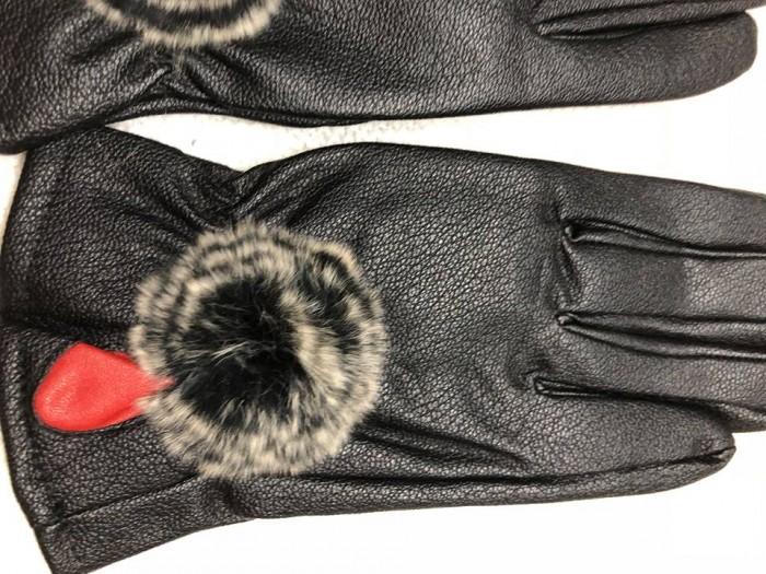 Găng tay giả da nữ - lót lông siêu ấm áp3