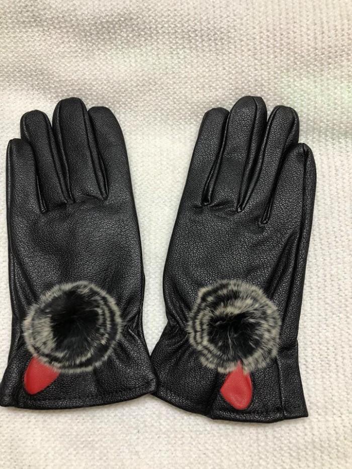 Găng tay giả da nữ - lót lông siêu ấm áp0