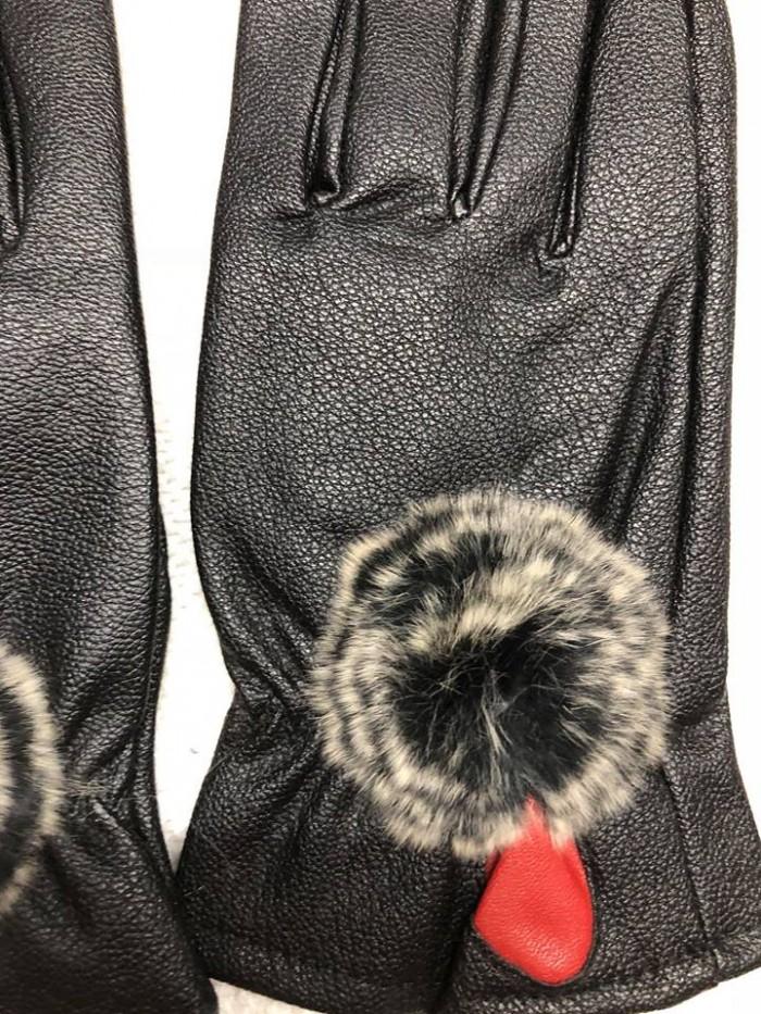 Găng tay giả da nữ - lót lông siêu ấm áp1