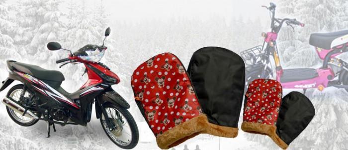 Găng tay chuyên dụng đi xe máy mùa đông, lót lông siêu ấm áp5