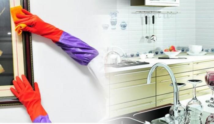 Găng tay rửa bát cao su lót nỉ siêu ấm áp, bảo vệ an toàn đôi tay bạn6