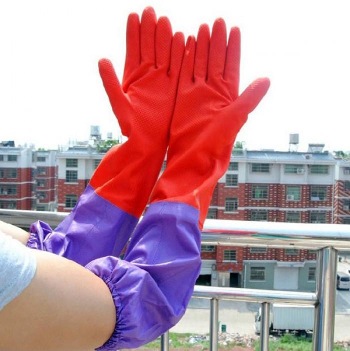 Găng tay rửa bát cao su lót nỉ siêu ấm áp, bảo vệ an toàn đôi tay bạn4