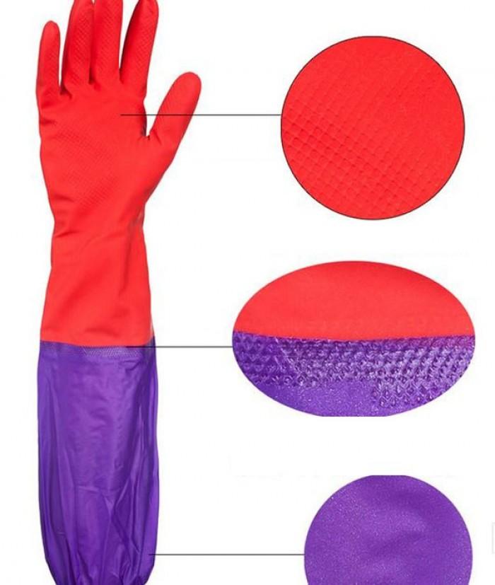 Găng tay rửa bát cao su lót nỉ siêu ấm áp, bảo vệ an toàn đôi tay bạn0