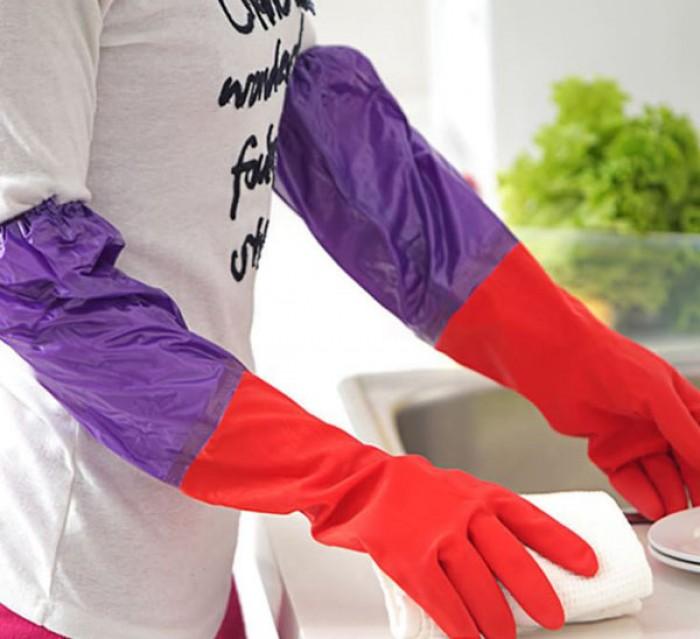 Găng tay rửa bát cao su lót nỉ siêu ấm áp, bảo vệ an toàn đôi tay bạn1