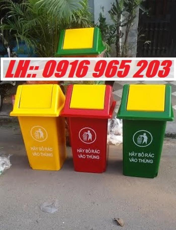 thùng rác 60 lít nắp bập bênh 60 lít1