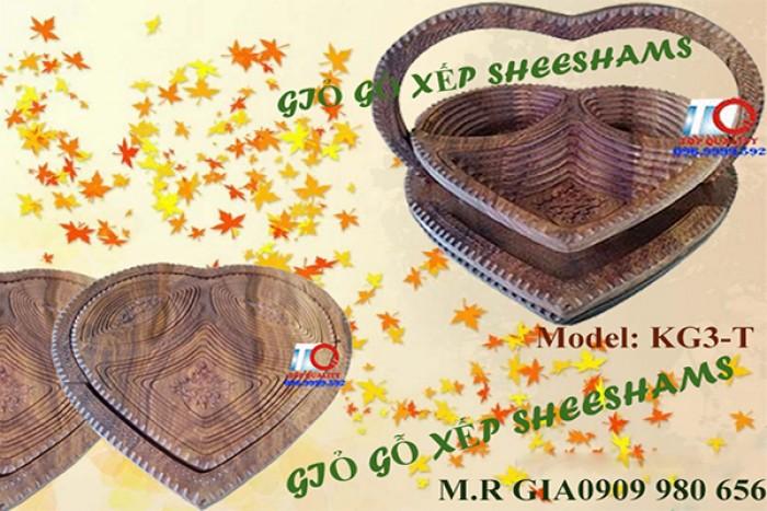 Giỏ gỗ quà tết  xếp mở tự do.Hàng có sẵn- Mẫu mã đẹp .6