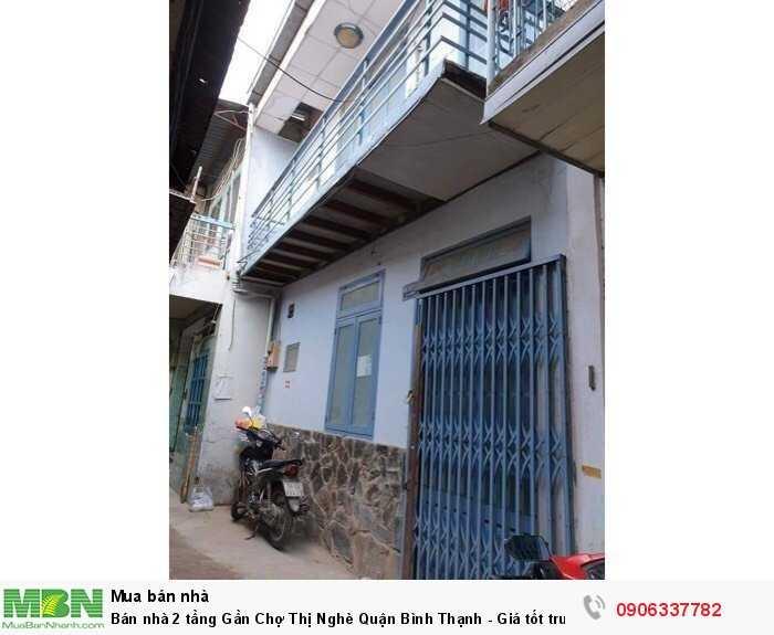 Bán nhà 2 tầng Gần Chợ Thị Nghè Quận Bình Thạnh - Giá tốt trước Tết.