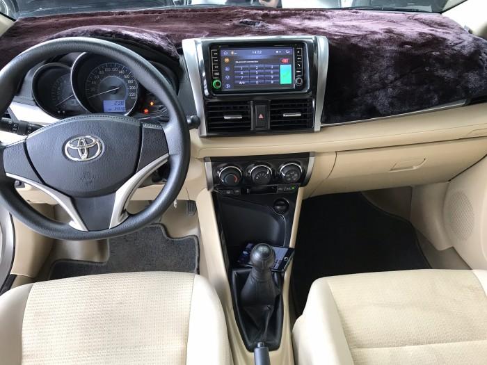 Bán Toyota VIOS E 1.5MT màu vàng cát số sàn sản xuất cuối 2017 biển tỉnh đi 34000km