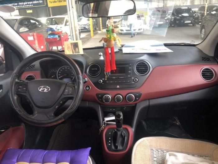 Bán Hyundai Grand i10 1.2AT HB màu cam số tự động nhập Ấn Độ 2014 đk 2015 gốc Sài Gòn