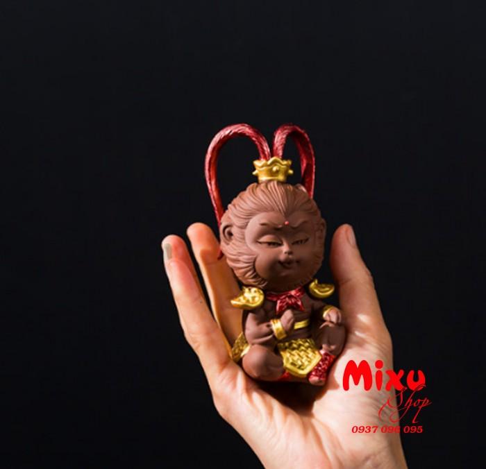 (Kèm Gậy+Nón Giáp) Tượng Khỉ Mỹ Hầu Vương - Tượng Khỉ Hầu Ca  - Tượng Tôn Ngô Không19