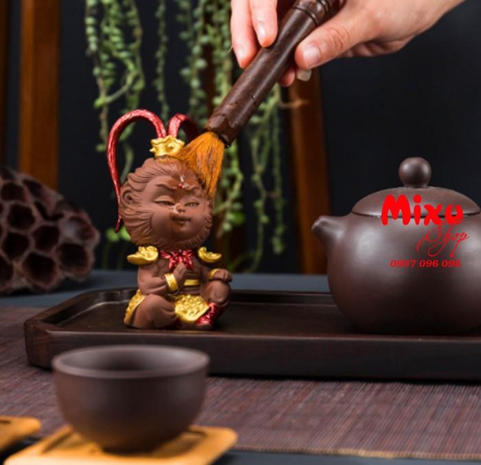 (Kèm Gậy+Nón Giáp) Tượng Khỉ Mỹ Hầu Vương - Tượng Khỉ Hầu Ca  - Tượng Tôn Ngô Không12