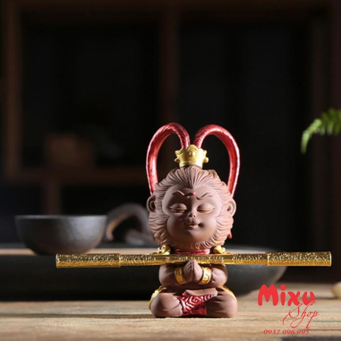 (Kèm Gậy+Nón Giáp) Tượng Khỉ Mỹ Hầu Vương - Tượng Khỉ Hầu Ca  - Tượng Tôn Ngô Không7