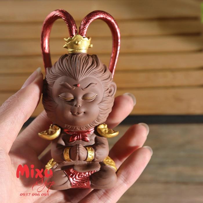 (Kèm Gậy+Nón Giáp) Tượng Khỉ Mỹ Hầu Vương - Tượng Khỉ Hầu Ca  - Tượng Tôn Ngô Không8