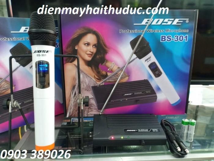 MICRO KHÔNG DÂY BOSE BS-301 đáp ứng đầy đủ chất lượng âm thanh tầm trung, mà giá chỉ có 490K/ bộ1