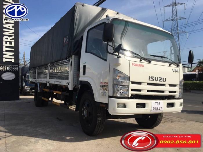 Xe tải isuzu/ isuzu 9 tấn, thùng hàng dài 7 mét.