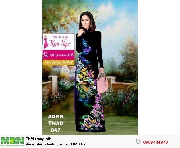 Vải áo dài in hình mẫu đẹp TNAD8470