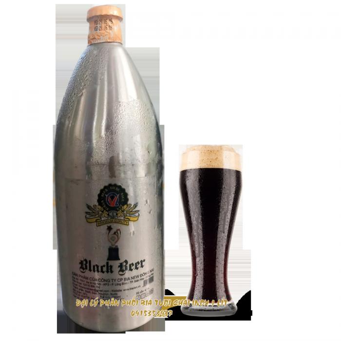 bia tươi chai inox, bia tươi đen bom inox, bia tươi đen sài gòn4