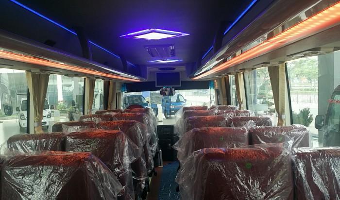 Giá xe thaco  29 Chỗ,  xe tb85s, Bầu Hơi, Êm Dịu