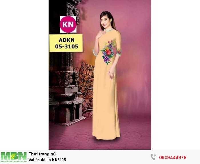 Vải áo dài in KN31050