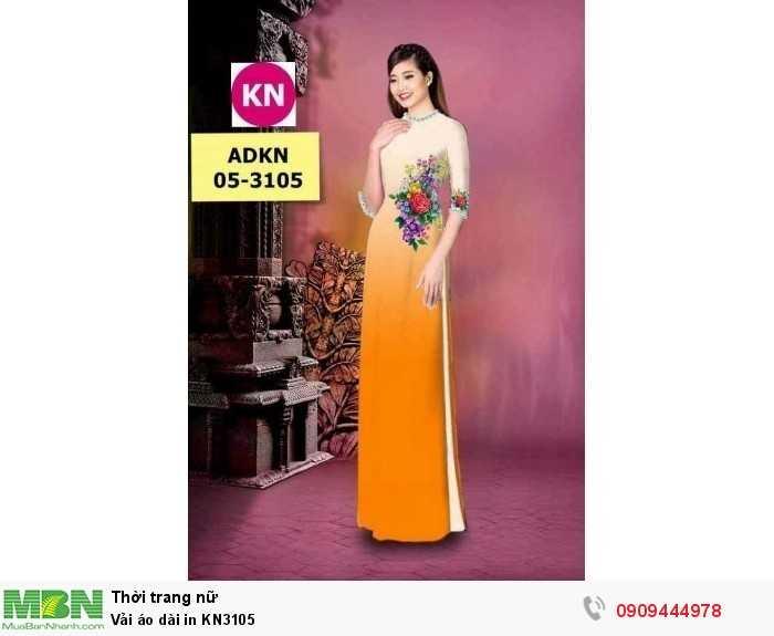 Vải áo dài in KN31051