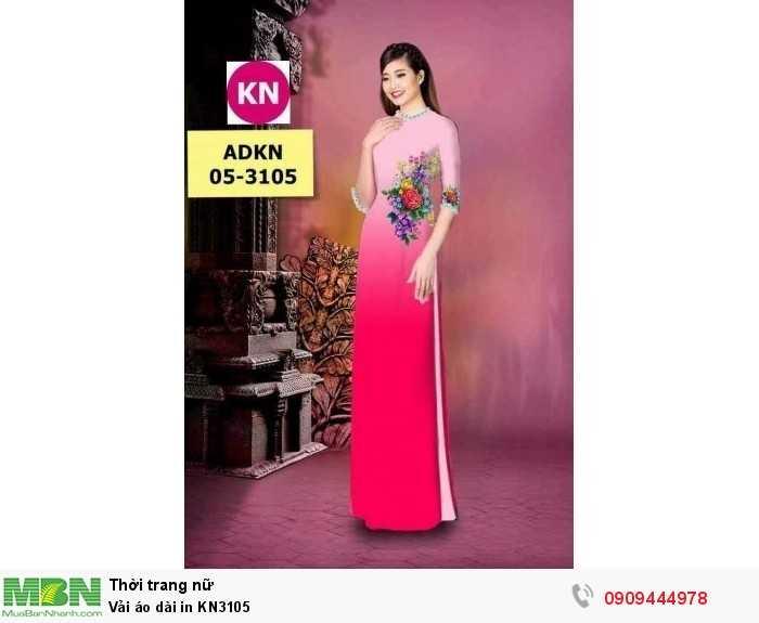 Vải áo dài in KN31052