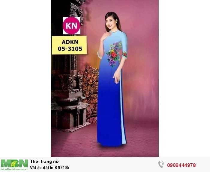 Vải áo dài in KN31053
