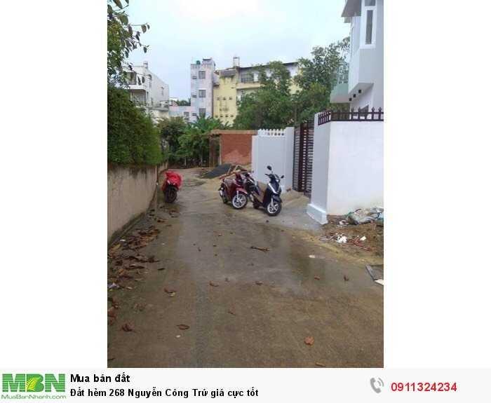 Đất hẻm 268 Nguyễn Công Trứ giá cực tốt