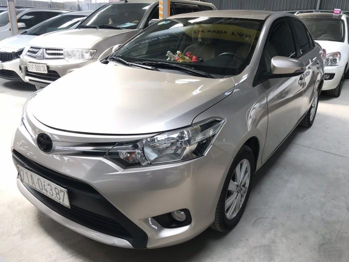 Bán Toyota VIOS E 1.5MT màu vàng cát số sàn sản xuất 2017 mẫu mới