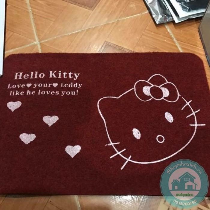 Thảm Lau Chân Mèo Hello Kitty NX5252