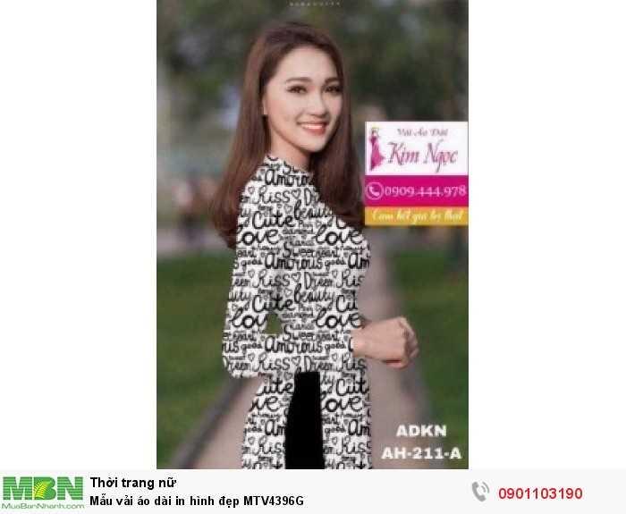 Mẫu vải áo dài in hình đẹp MTV4396G0