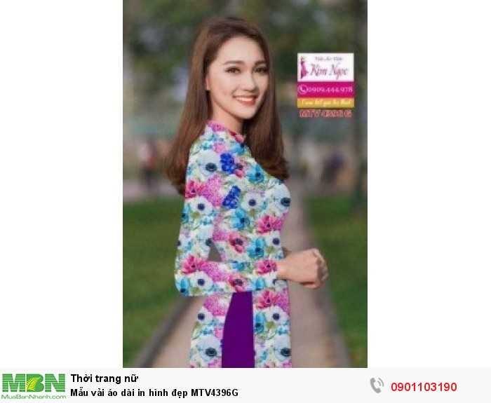 Mẫu vải áo dài in hình đẹp MTV4396G1