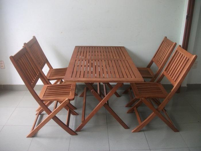 Bàn ghế GỔ cafe mây nhựa giá rẻ tại xưởng sản xuất HGH 5810