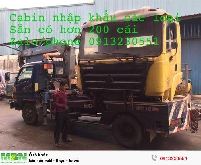 Bán Đầu Cabin Hoyun Howo