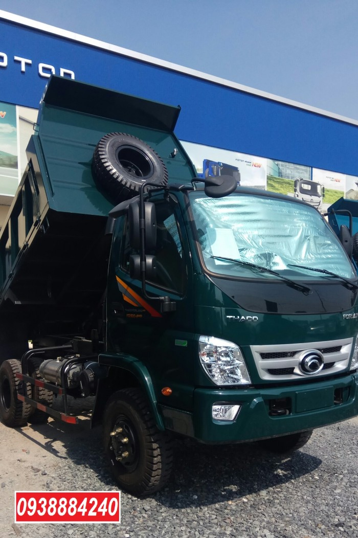 Bán xe ben THACO FORLAND FD500-4WD.E4 2 cầu 4.99 tấn thùng 4.1 khối Vay 80% 16
