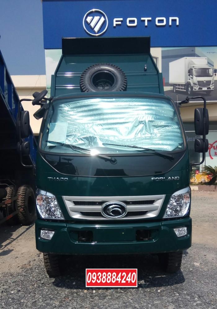 Bán xe ben THACO FORLAND FD500-4WD.E4 2 cầu 4.99 tấn thùng 4.1 khối Vay 80% 15