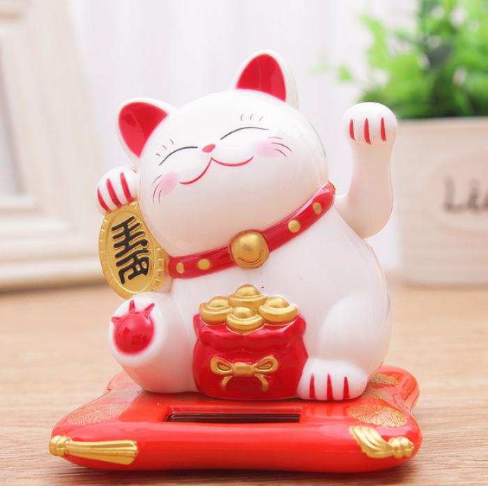 Mèo thần tài - Mèo vãy tay may mắn size 16cm3