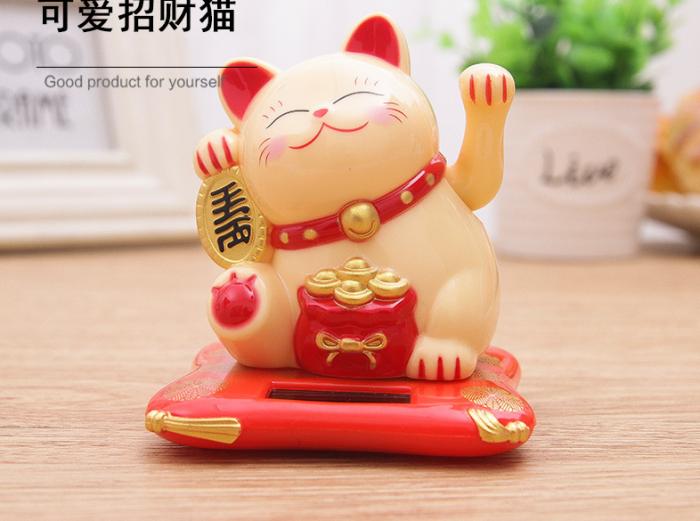 Mèo thần tài - Mèo vãy tay may mắn size 16cm1