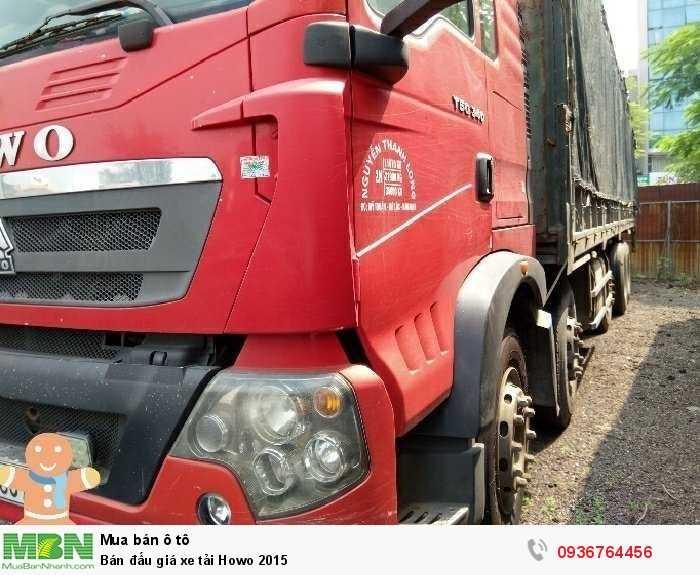 Bán đấu giá xe tải Howo 2015