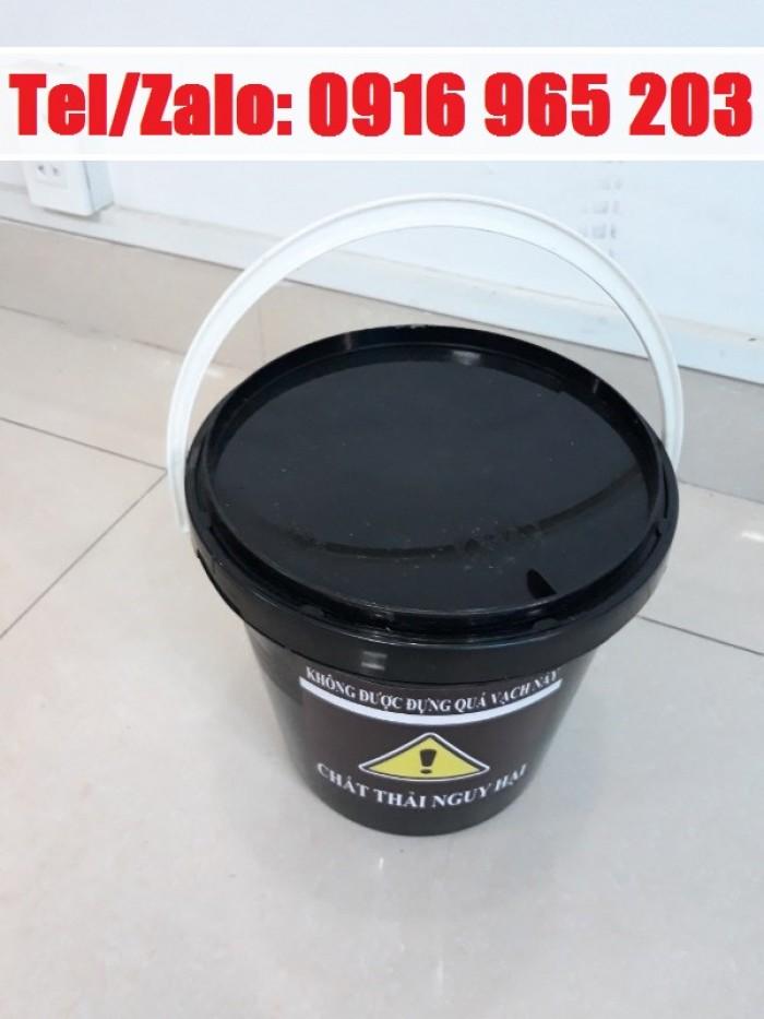 xô 5 lít màu đen đựng chất thải nguy hại bệnh viện2