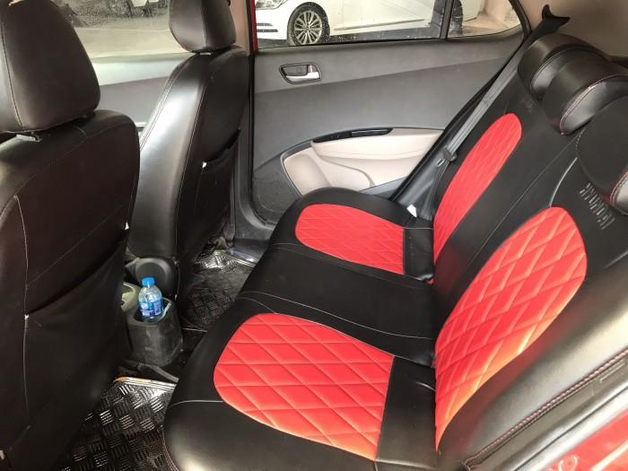 Bán Hyundai Grand i10 HB 1.0AT màu đỏ số tự động nhập Ấn Độ 2015 gốc Sài Gòn