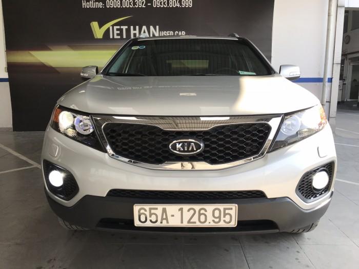 Bán Kia Sorento 2.4MT màu bạc số sàn máy xăng nhập Hàn Quốc 2010 7 chỗ 8