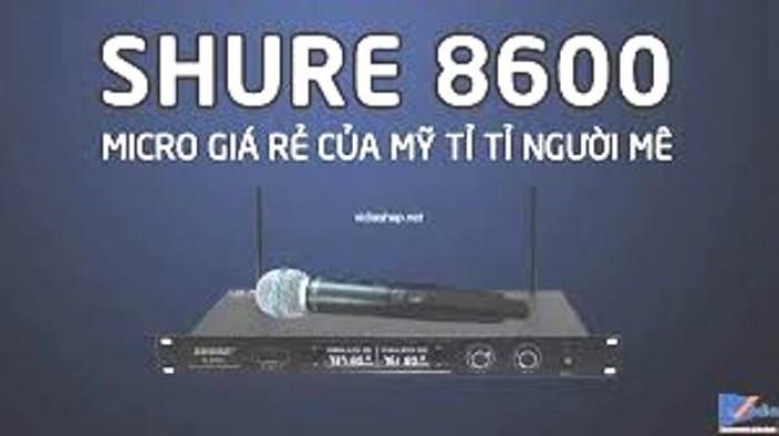 Micro không dây Shure U8600 Micro giá rẻ chỉ có 1600K/ bộ nhưng cho chất âm chuẩn4